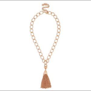 Baublebar Rose Gold Tassel Necklace